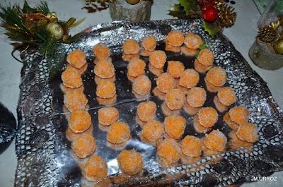 Bolitas de zanahoria y coco.