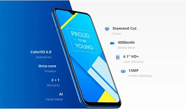Spek dan harga Hp xiaomi Realme C2  RAM 3 GB Molai 1.4 Jutaan