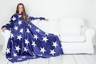 pled-s-rukavami-sleepy-luxury-blue-white-stars-temno-sinij-so-zvezdami