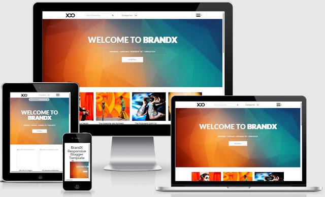 BrandX Responsive Blogger Templates