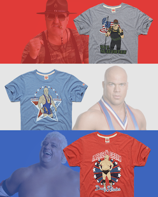 WWE USA Patriots: Dusty, Sarge & Angle T-Shirt Collection by HOMAGE