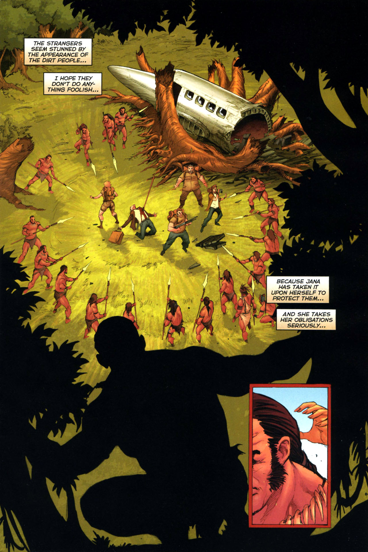 Read online Jungle Girl comic -  Issue #3 - 4