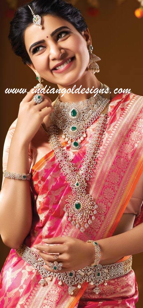 Latest saree designs samantha in pink bridal saree checkout samantha in pink bridal saree with orange border and matching blouse altavistaventures Image collections