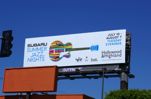 Hollywood Highland Summer Jazz Nights 2018 billboard