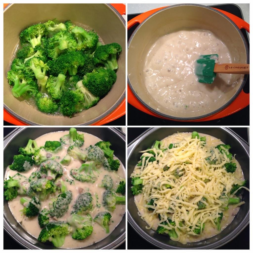 宅女簡易料理: 芝士白汁焗西蘭花