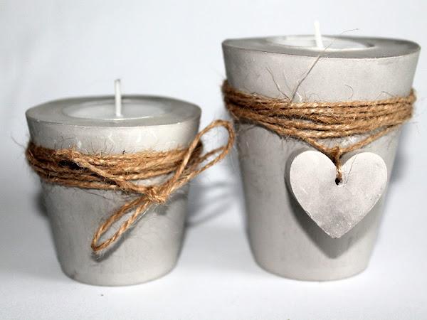 DIY Gips / Beton Teelichthalter Herz