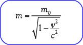 Rumus massa relativistik