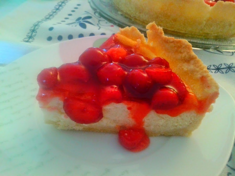 Porción Tarta de Queso con Frutos Rojos