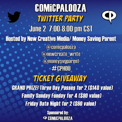 Comicpalooza 2016 Twitter Party