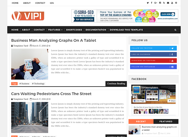 VIPI Blog Blogger Template