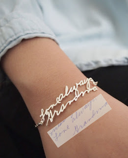 mothersday gift handwriting personalized bracelet