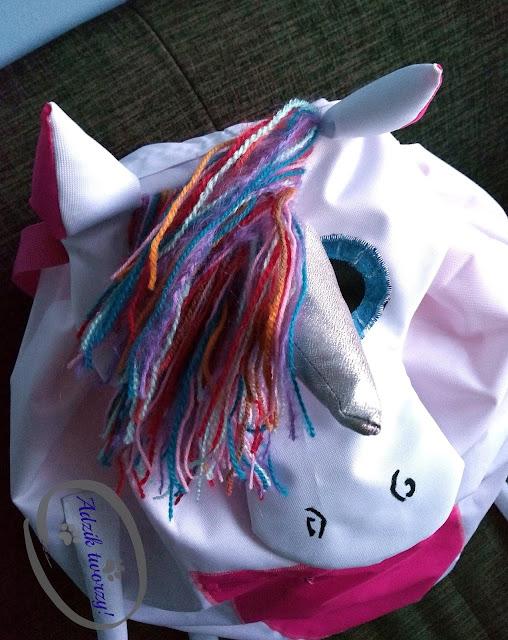 Adzik tworzy - Jak uszyć plecak DIY w formie jednorożca