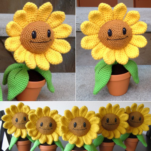 Happy Sunflower Amigurumi - Free Pattern