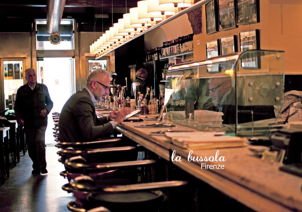 salle du restaurant la Bussola à Florence