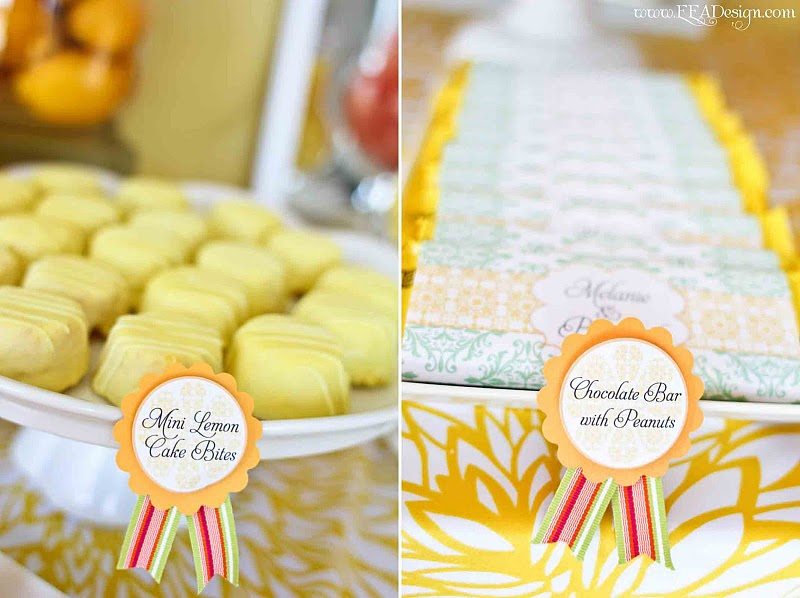 Green And Yellow Dessert Table Scape