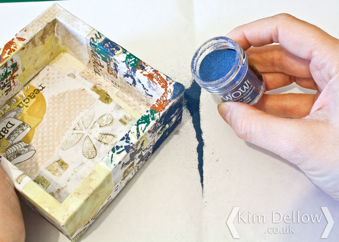 Step 5 Decorating the box by Kim Dellow