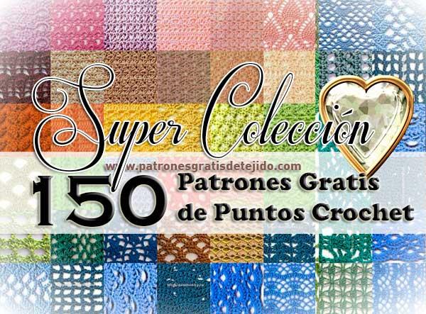 Colección de 150 patrones de puntos crochet