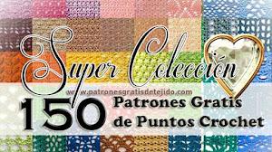 Super Colección de 150 Patrones de Puntos Crochet