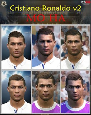 PES 2016 Cristiano Ronaldo v2 Face by Mo Ha