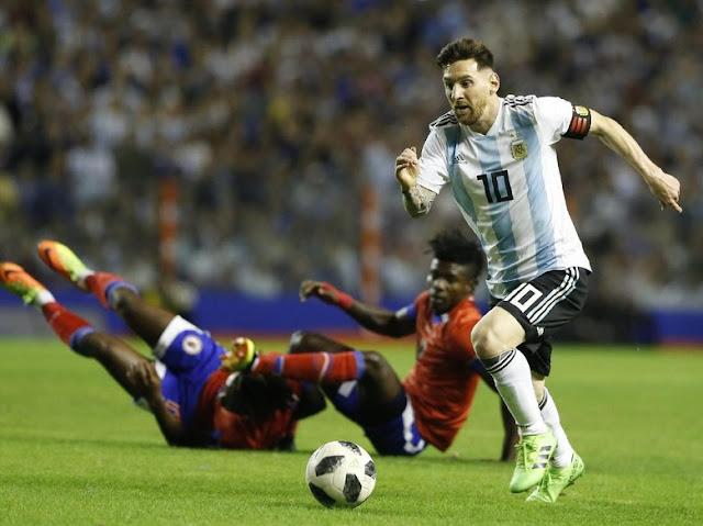 Laga Persahabatan: Messi Hat-trick, Argentina Lumat Haiti 4-0