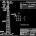 مشروع انشاء عمود اتصالات gsm اوتوكاد dwg