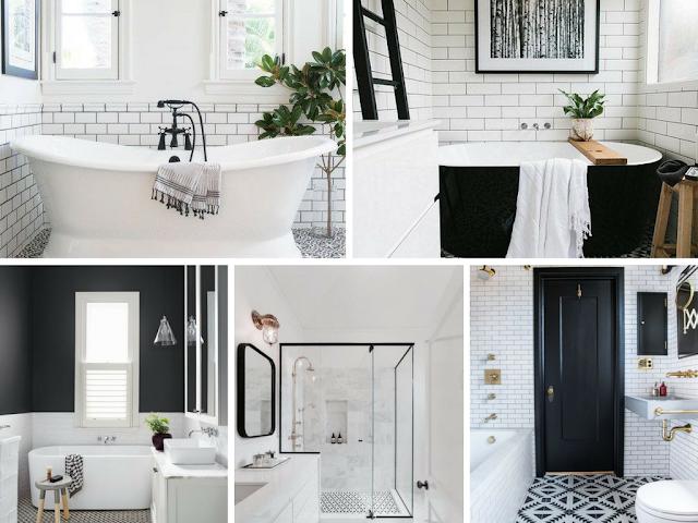 Decoração Black and White - Casa de banho