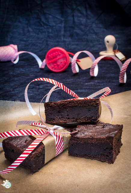 Brownies mit Auberginen gebacken
