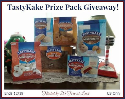 Enter the TastyKake Prize Package Giveaway. Ends 12/19