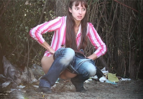 PissHunters 9268-9283 (Girls pee outdoors hidden camera. Hidden cam in public toilet)