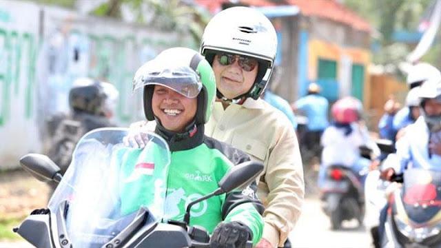 Prabowo: Selalu Ada yang Coba Melintir, Dikatakan Saya Tidak Hormati Pekerjaan Ojek