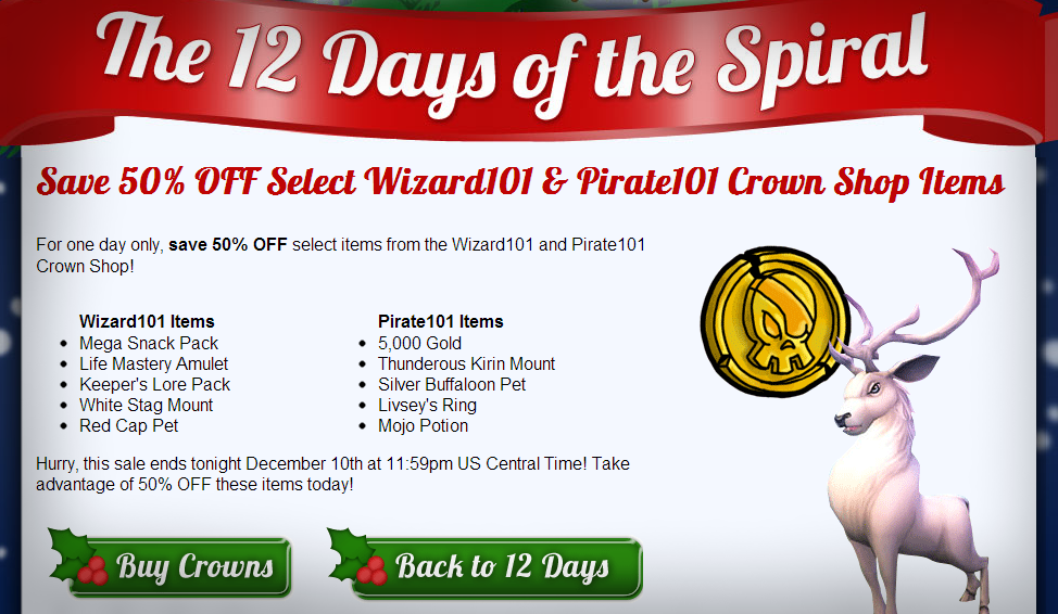 The 12 Days of the Spiral: Days 1-4 - Swordroll's Blog