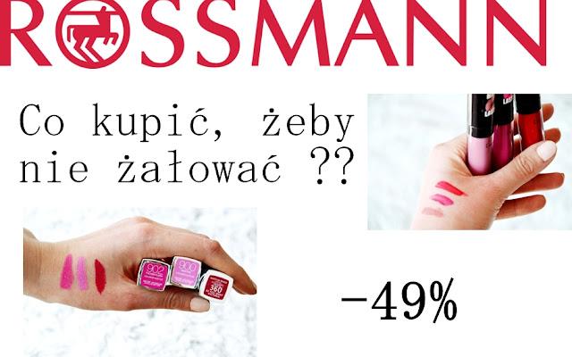 ** Co kupić na promocji w Rossmannie -49% ** - Czytaj więcej »
