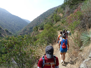 Some of the 650 hikers on Fish Canyon Trail