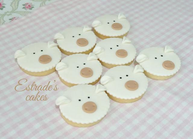 galletas de oveja con fondant 3
