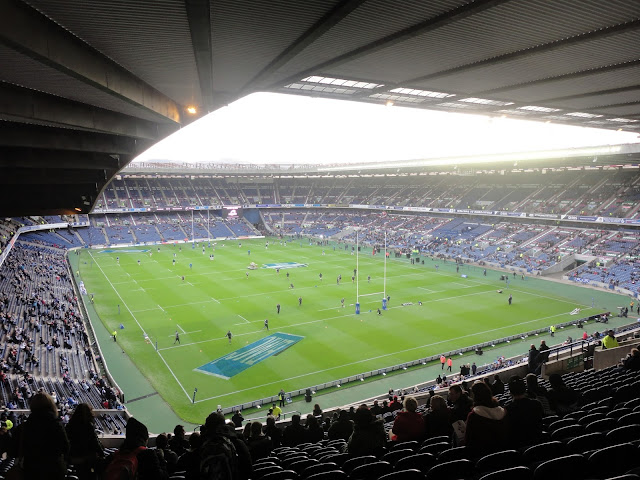 Inside Murrayfield Stadium, Edinburgh