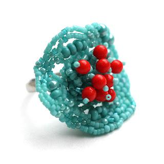 купить крупное кольцо бижутерия купить изделия из бисера