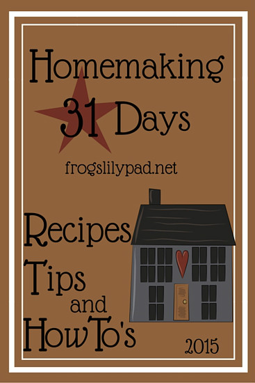 31 Days of Homemaking Series: DAY 1- What is homemaking? It's not just about cleaning, it's the atmosphere we create for our families to live in. frogslilypad.net