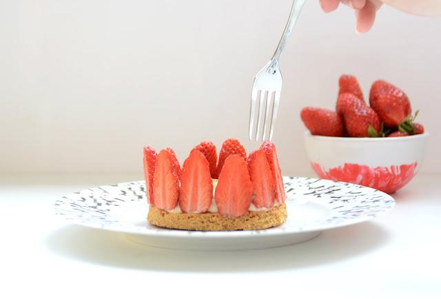 Tartelettes aux fraises et à la crème brûlée