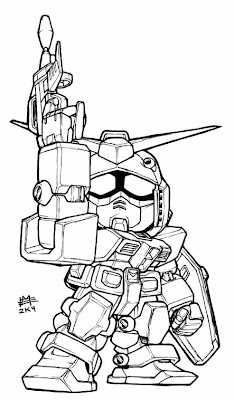 MASTA-KILLA TERRITORIES: GUNDAM LINEART: SD VERSION