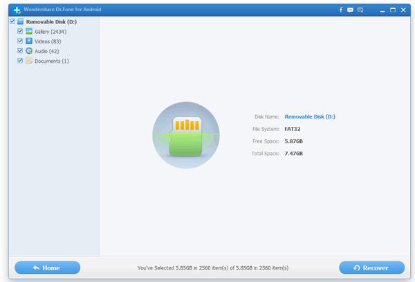 Huawei Recovery Transfer: Huawei SD Card Recovery: Restore