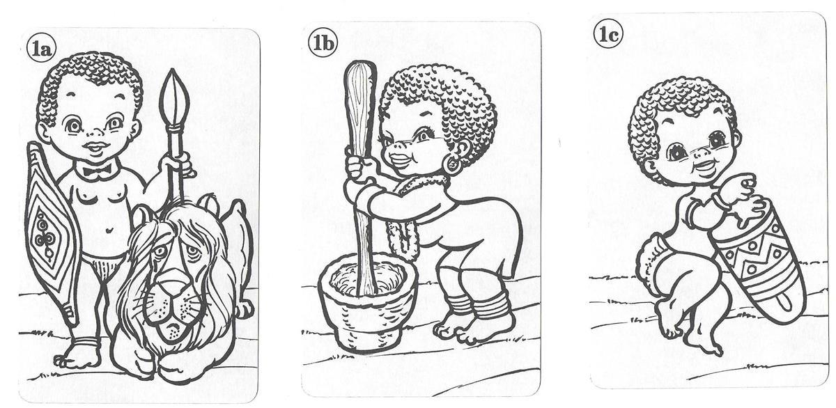 Barajas y Naipes: Naipe infantil para colorear