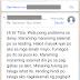 Testimonial of Rain from Cavite
