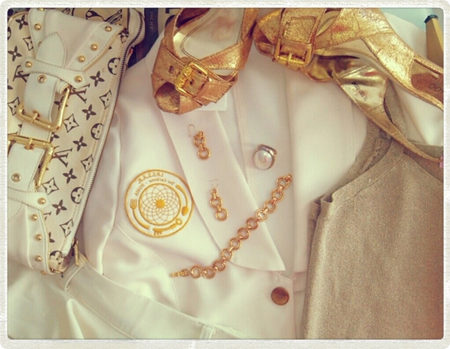 white and gold sailors look and outfit