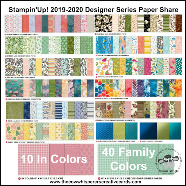 Paper Share, Designer Series Paper, Stampin Up, 2019-2020