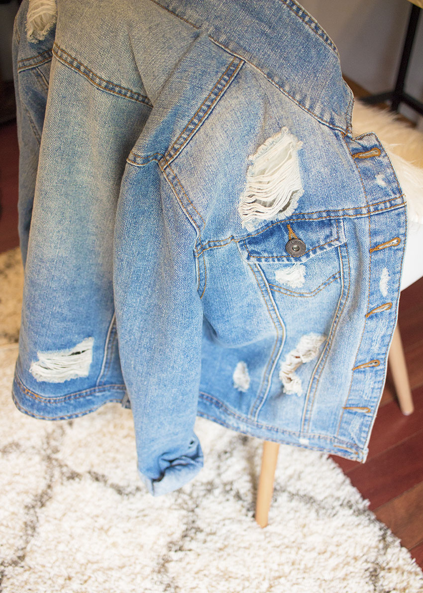 Rue 21 Distressed Denim Jacket