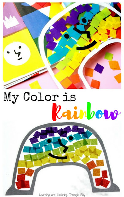 My Color is Rainbow. Nurture Activities for Kids. Rainbow Suncatcher. Circle Time Activities.