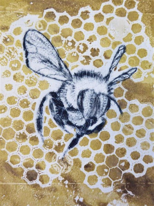 Exterior: Sandra Pearce: Buzzing With Drypoint And Monoprinting