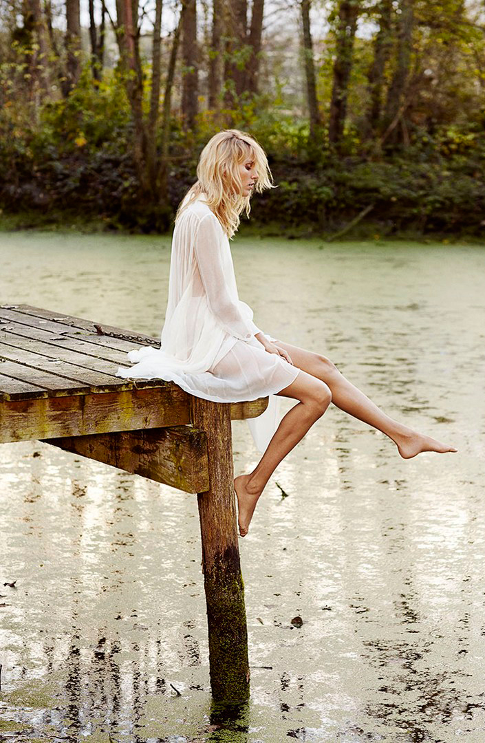 Anja Rubik for Deep Waters / Net-A-Porter (photography: Nico, styling: Natalie Brewster)