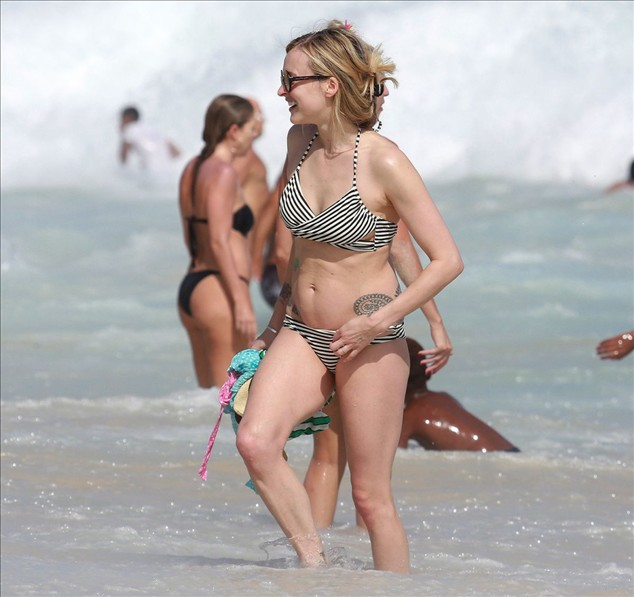 FEARNE COTTON tatoo in Bikini at a Beach in Rio