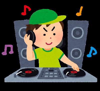 DJ・ディスクジョッキーのイラスト